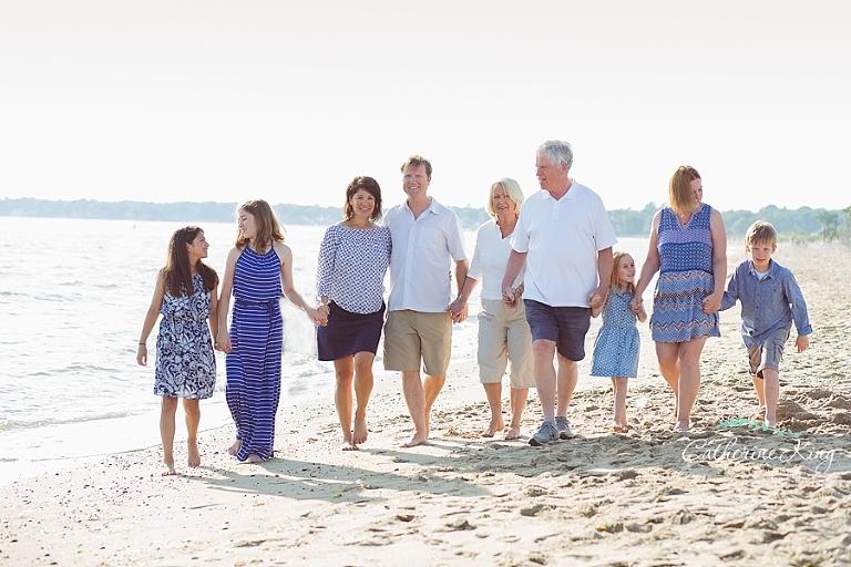 CT beach family photo session at Hammonasset State Park