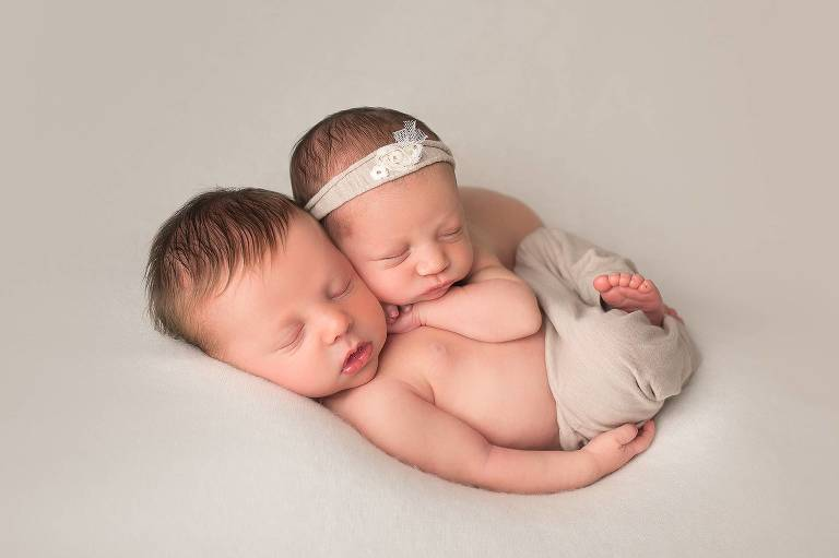 CT Newborn Photographer gallery image twin babies
